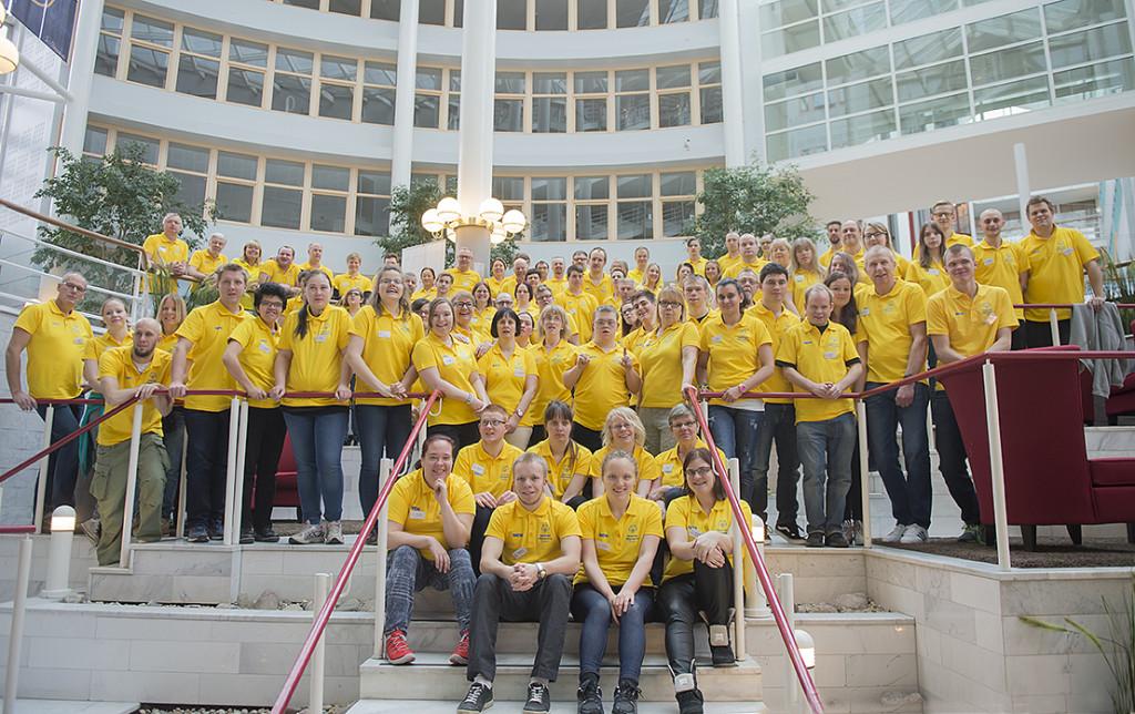 Sverigelaget samlades helgen den 6-8/3 för att gemensamt ladda inför att resa och representera nationen under Special Olympics World Games 2015. Foto: Martin Nauclér